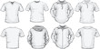 men's shirts template in white