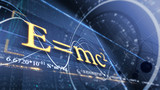 PHYSICS, SCIENCE. ABSTRACT BACKGROUND. E=mc2 poster