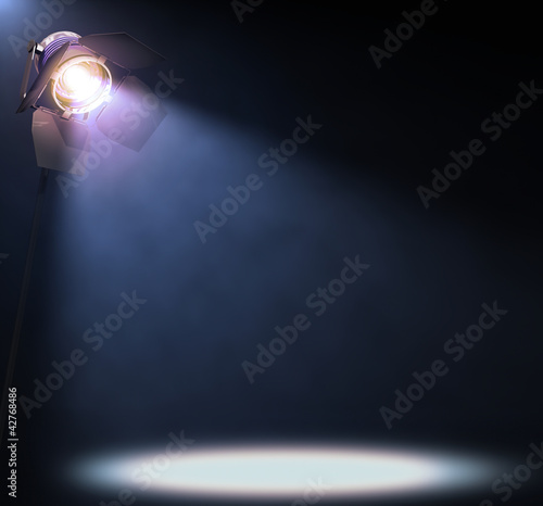 Fotobehang Licht, schaduw Spotlight