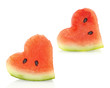 Summer love. Watermelon pieces couple