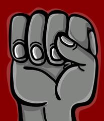 closed hand in fist closeup