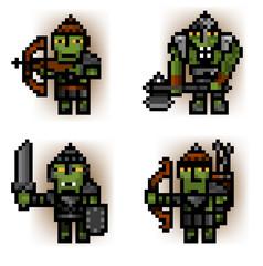 pixel ork soldiers