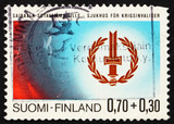 Postage stamp Finland 1976 Disabled War Veterans' Emblem poster