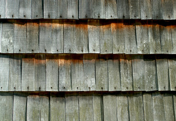 Old cedar shake wall background