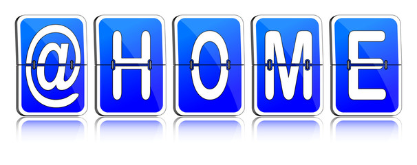 Fallblattanzeige @home blau