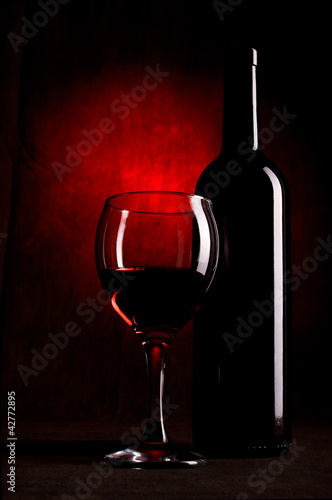Wine Bottle With Glasses
