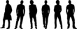 Silhouettes of fashion men