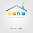 logo eco house #vector