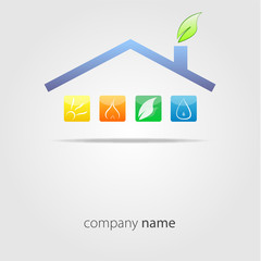 logo eco house #vector