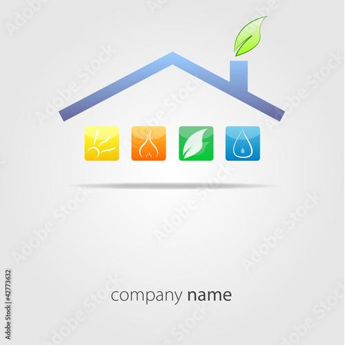 Дом значок логотип вектор — Векторное изображение