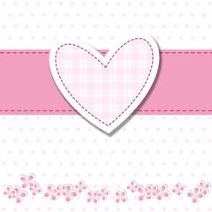 baby shower - bimba - cuore rosa