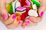 Fototapety Candys in hands