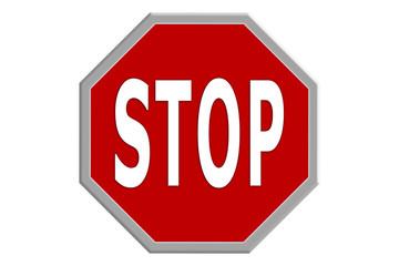 Stop sign, Stoppschild, Stop