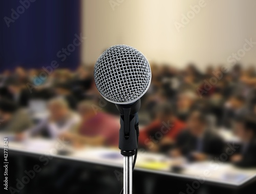 People attending seminar