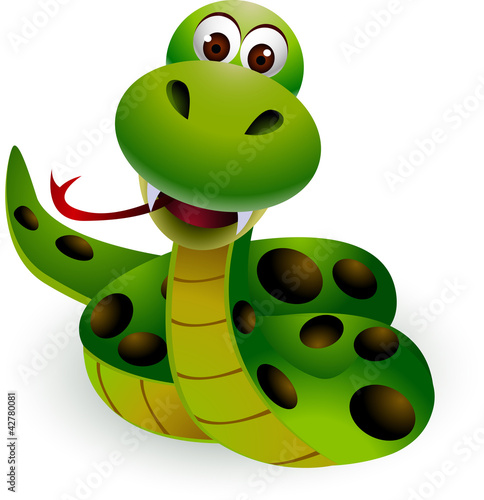 Zdjęcia na płótnie, fototapety na wymiar, obrazy na ścianę : cute snake cartoon