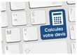 clavier calculez votre devis