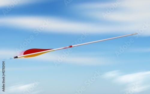 flèche en mouvement - rapidité vitesse concept