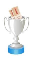 vector icon silver trophy
