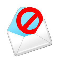 vector icon spam mail
