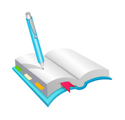 vector icon diary and pen