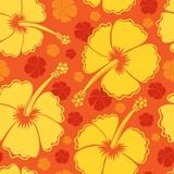 Hibiscus seamless background 2