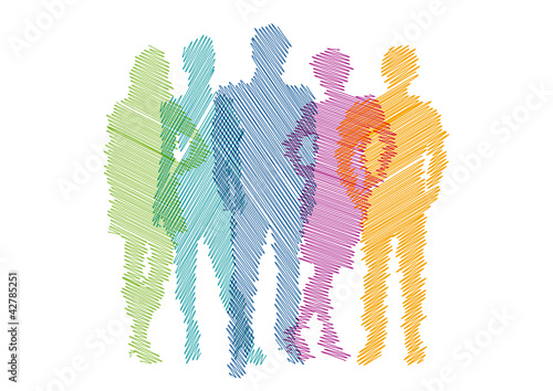 Rainbow Teamwork Project # Vector