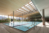interior view of swimming bath with pool with indoor laps