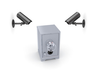 Observation cameras and iron safe.
