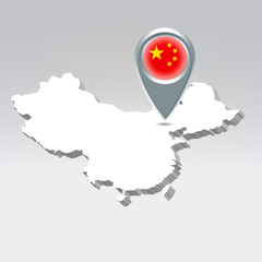 China geo location background
