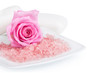 Pink rose and aromatic salt