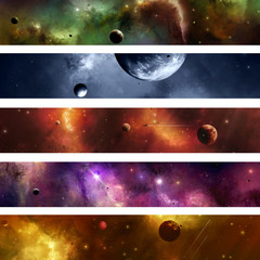 Space Galaxy Banner