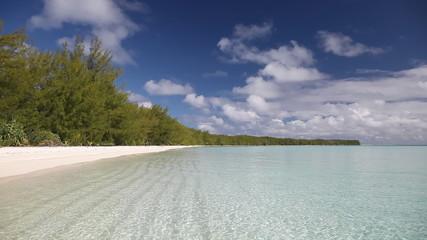 Deserted Beach on Raivavae Lagoon