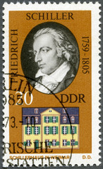 GERMANY - 1973: shows Friedrich von Schiller (1759-1805)