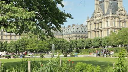 Paris Tuileries garden, near the Louvre