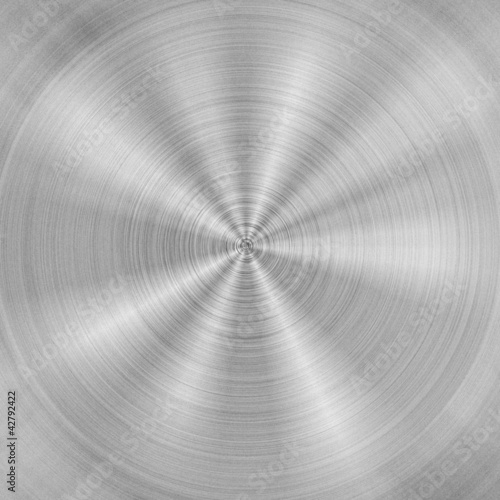 Brushed metal plate circular