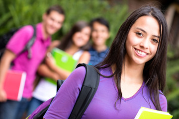 Female student smiling