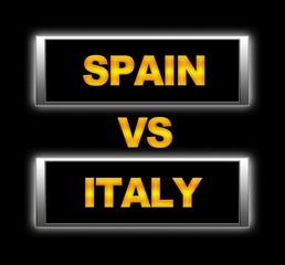Spain vs Italy.