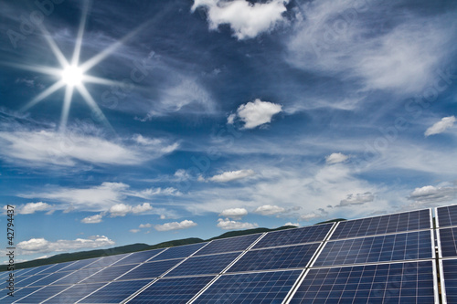 Solar power station -  photovoltaics