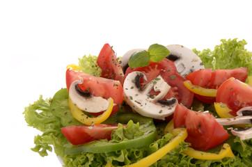 Frischer einfacher Salat