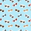 Seamless pattern with retro glasses