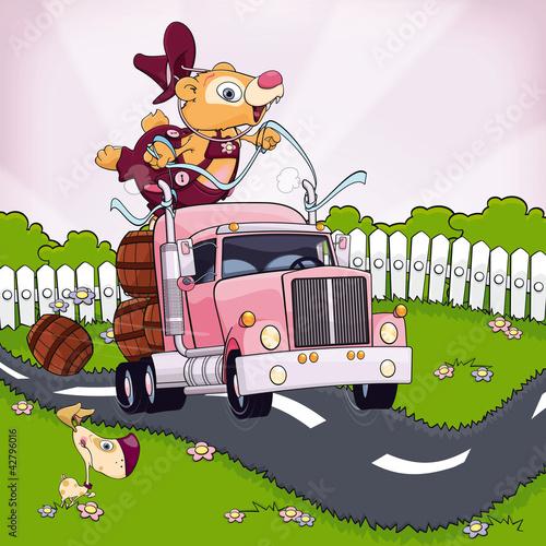 Fototapeten,bär,lastkraftwagen,reise,fahren