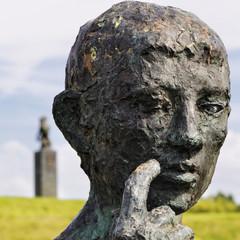 sculpture d'un visage