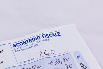 scontrino fiscale