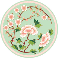 Chinese Traditional Floral Pattern