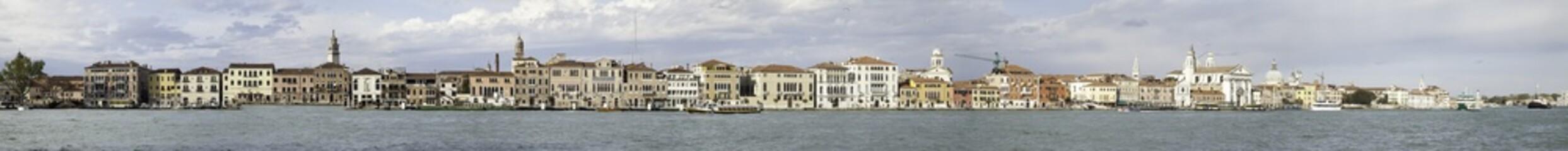 Panoramica dell'isola della Giudecca a Venezia