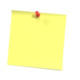 Sticker note with white background