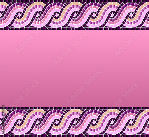 Wave mosaic seamless pattern