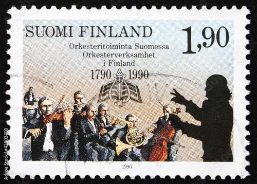 Postage stamp Finland 1990 Finnish Orchestras