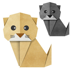 Origami cat Recycled Papercraft