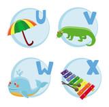 Fototapety Vector funny cartoon alphabet